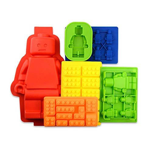 Bigear-6pc-Candy-Tray-Molds-For-Lego-Lovers-Chocolate-Molds-Ice-Cube-Molds-Silicone-Baking-Molds-Building-Blocks-and-FiguresSet-of-6