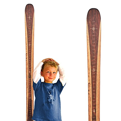 Wooden Ski Growth Chart Wood Height Chart | Traditional Wood