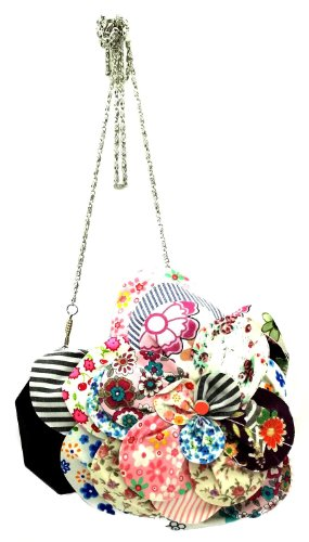 Sweety Bird Clutch Irregular Choice Sweety Bird Black Flower Clutch Bag