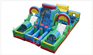 Adrenaline Rush Ii Inflatable 34 Foot Obstacle Course Includes Free Blowers and Free Shipping