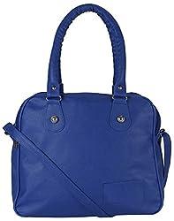 Mukul Collection Women's Shoulder Handbags Blue (mc-hb-003)