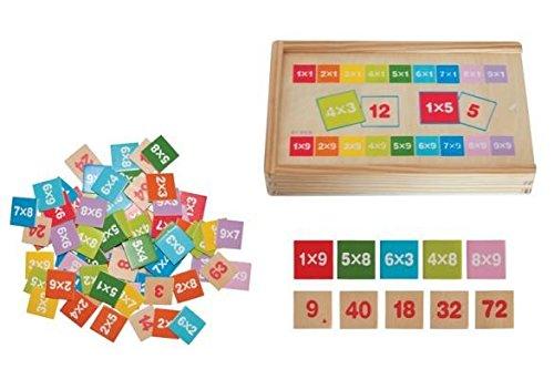 Woodyland-Didctica-Juguetes-multiplicar-y-dividir-Matemticas-Aprendizaje-en-una-caja-de-madera-81-piezas
