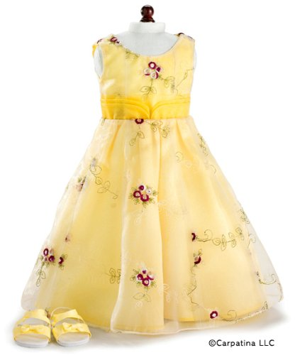 Yellow and Red Roses Valentine Dress & Sandals ~ Fits 18