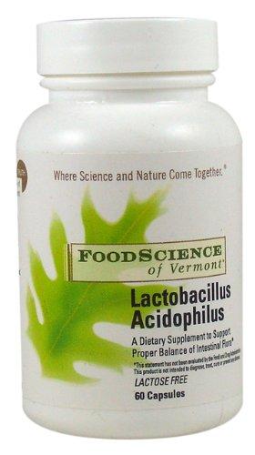 Food Science of Vermont Lactobacillus Acidophilus 300 Mg Capsules, 60 Count