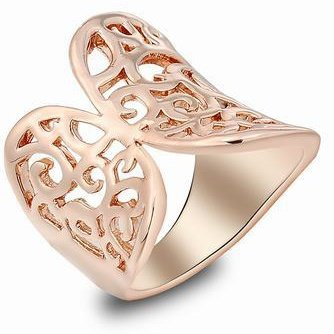 K-Design 18K Rose Gold Plated Crown Ring Fashion Butterfly Korea Rings For Women Cubic Zircon Ring Vintage Jewelry Acessorios Atacado