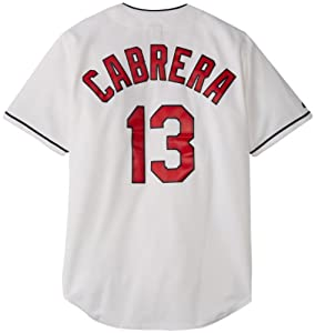 MLB Cleveland Indians Asdrubal Cabrera 13 Jersey, White by Majestic