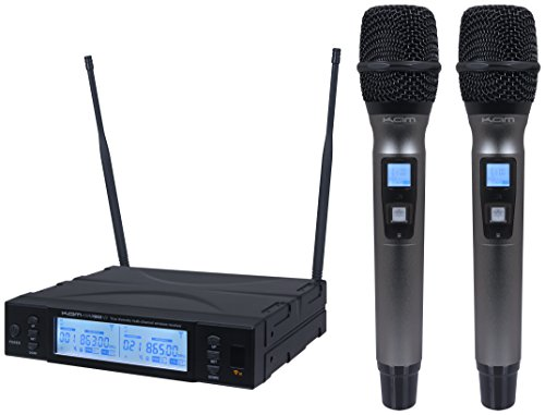 kam-kwm-1960-hh-v2-channel-70-uhf-proffesional-twin-wireless-microphone-system
