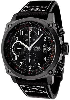 Oris Men's 674 7625 7064LS Culture Rectangular Titan Chronograph Watch