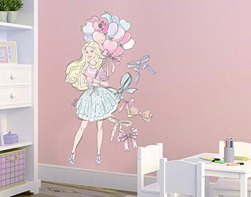 Klebefieber DS 1013-B Wandtattoo Barbie mit Luftballons B x H: 50cm x 83cm (erhältlich in 9 Größen) kaufen