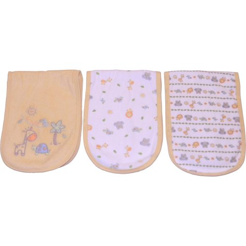 Babies R Us Neutral 3Pk Terry Burpcloth - 1