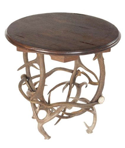 Cheap Elk & Coues Antler Round End Table (B001KD5VCS)