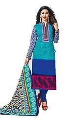 RK Fashion Womens Cotton Un-Stitched Salwar Suit Dupatta Material ( YOGESH-MCM-LIFESTYLE-SANA-145-Multi-Coloured-Free Size)