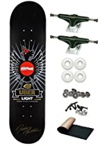 Almost Rodney Mullen Silver Chicken Uber Light 8.0 Skateboard Deck Complete