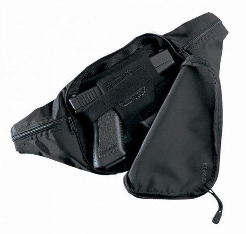 Galco Escort Waist Pack Holster Right Hand Black Large Revolver ETBK2L from Galco