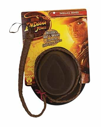 Adults' Indiana Jones Hat and Whip Costume Accessories