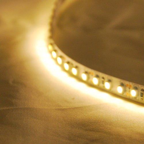Imagen de ABI LED de alta densidad blanco cálido Luz de tira flexible 120 LEDs / Medidor de 5 metros para undercabinet, toolbench, etc