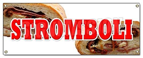 STROMBOLI BANNER SIGN pizza subs italian restaurant deli (Deli Banner compare prices)