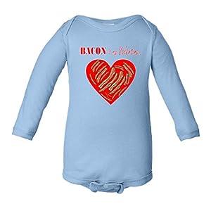 Bacon Is My Valentine Funny V-Day Infant Long Sleeve Bodysuit