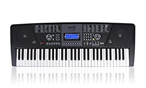 RockJam 561 Electronic 61 Key Digital Piano Keyboard Super Kit with Stand, Stool, Headphones, and Power Supply by PDT Ltd - IMPORT FOB (UK)