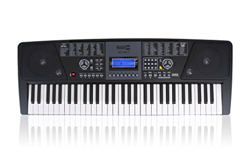 rockjam 561 electronic 61 key digital piano keyboard super kit with stand st ebay. Black Bedroom Furniture Sets. Home Design Ideas