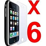 6 pcs Clear Screen Protectors for iphone 3G/3GSby iphone