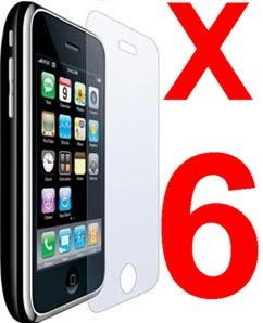 6 pcs Clear Screen Protectors for iphone 3G/3GS