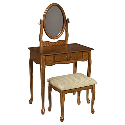 powell-woodland-oak-vanity-mirror-and-bench