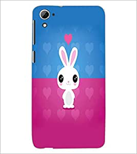 PrintDhaba Bunny D-5864 Back Case Cover for HTC DESIRE 826 (Multi-Coloured)