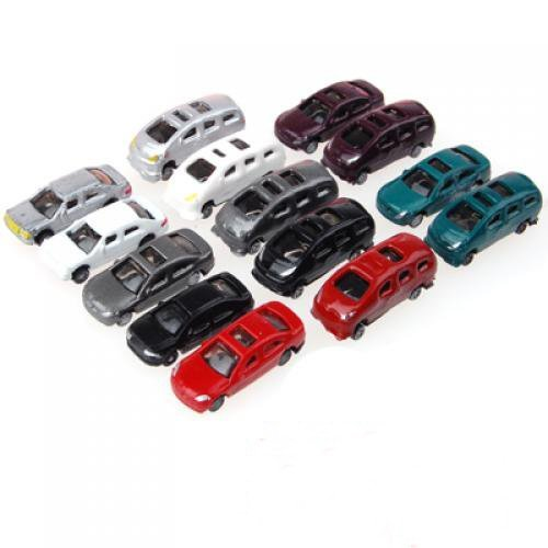 100pcs Painted Model Cars Building Train Layout Scale N Z (1 to 200) C200-4