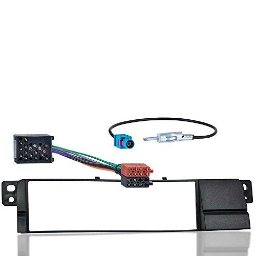 Autoradio-Einbauset-passend-fr-BMW-3er-E46-ab-Bj-598-Radioblende-Radioadapterkabel-FAKRA-Antennenadapter-auf-DIN