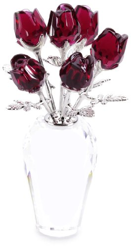 Swarovski Crystal Red Roses (Swarovski Crystal Flower compare prices)