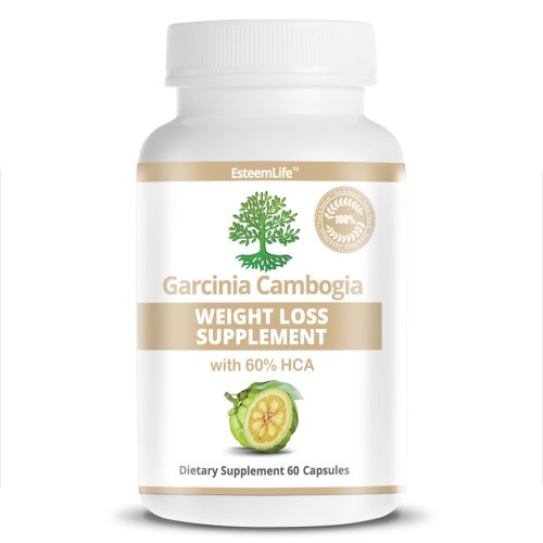 Garcinia Cambogia Weight Loss Supplement - 100% Pure Extract with 60 % HCA - 60 Capsules 1000mg Per Capsule - Natural Weight Loss Supplement and Appetite Suppressant As Seen on Dr Oz - Buy Premium Quality with 100% Money Back Guarantee!