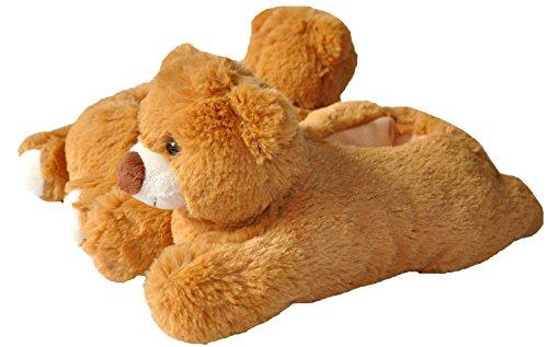 UltraIdeas Fun Stuffed Animal Series Soft Warm Premium Plush Fuzzy Indoor Slippers for Kids & Adults (Medium for Adults, Bear) (Bear Slippers compare prices)