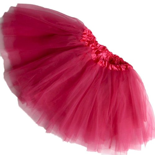 Girls Plus Size Ballet Tutu-Waist 20-44-Length 11-12-By Southern Wrag Company (Hot Pink) front-556925