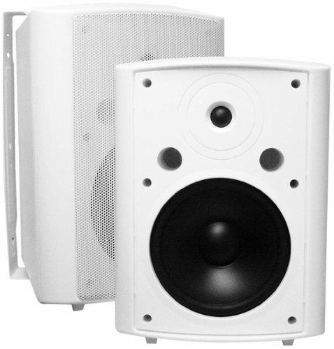 Osd Audio Ap840 White 8-Inch High Performance Indoor Or Outdoor 200-Watt Patio Speaker Pair