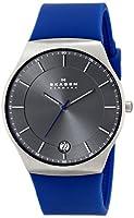 Skagen Men's SKW6072 Balder Quartz 3 Hand Date Titanium Blue Watch from Skagen