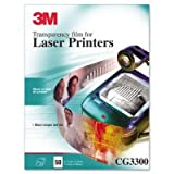 3M CG3300 Transparency Film for Laser Printers, 50 Sheets