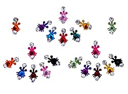 Sunaina Premium Collection Multicolor Small Size Bindis for Women [SPC540]