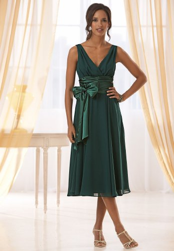 Charmeuse Tie-Waist Dress