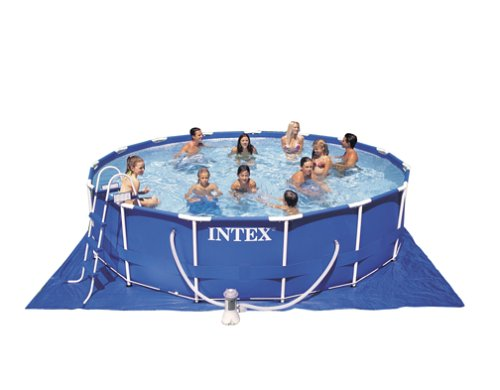 Intex 15-Foot-by-42-Inch Family Size Round Metal