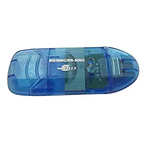 Lecteur de Carte SD HC Bleu Format Clé USB