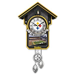 NFL Cuckoo Clock: Pittsburgh Steelers by The Bradford Exchange