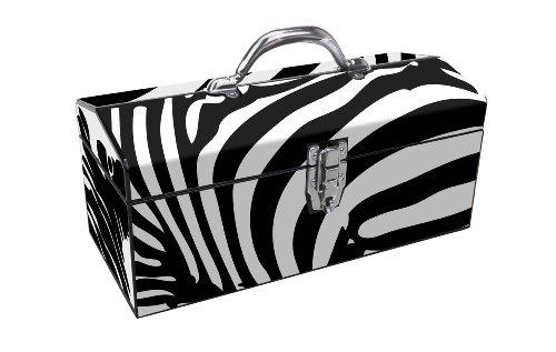 Sainty International 24-035 Art Deco Zebra Tool Box