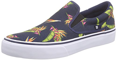 DC Shoes TRASE SLIP-ON S M SHOE NVM, Scarpe chiuse uomo, Multicolore (Mehrfarbig (Navy Monogram NVM)), 42