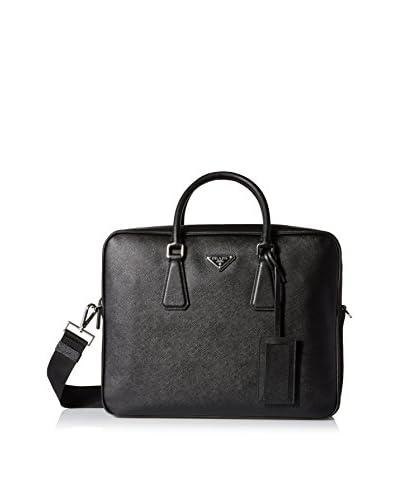 Prada Men's Laptop Briefcase Bag, Black