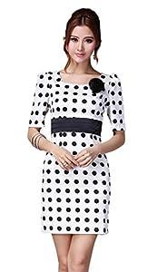 Polka Dot Print Short Bodycon Dress/Party Dress