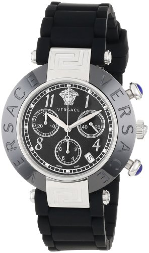 Versace Men's 95CCS9D008 S009 Reve Ceramic Black Stainless Steel Chronograph Watch