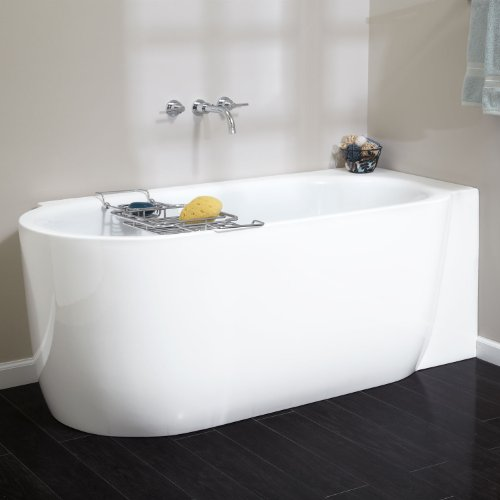 freestanding tub with faucet holes. 59 Averill Corner Acrylic Freestanding Tub  No Overflow or Faucet Holes Right