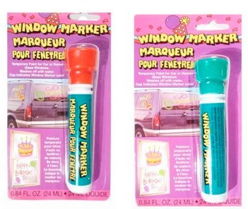 2 Pack - Window Markers - Temporary Paint for Car or Home Glass Windows - Fun Color Combinations ~ Christmas Colors (Green Car Window Paint compare prices)