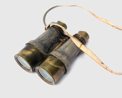 Collectibles Buy Antique Victorian Leather Covered Brass Binocular Finish 6